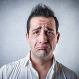 Homem novo triste Imagens de Stock