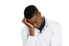 Homem novo triste deprimido Fotos de Stock