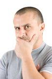 Homem novo virado isolado no branco Imagem de Stock Royalty Free