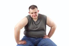 Homem obeso Imagens de Stock