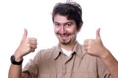 Homem ocasional feliz Imagens de Stock