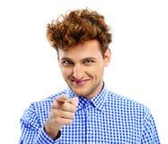 Homem ocasional que aponta em você Foto de Stock