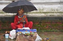 Homem ocasional que praying Imagem de Stock Royalty Free