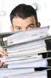 Homem ocupado imagens de stock
