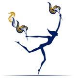 Homem olímpico da flama ilustração do vetor