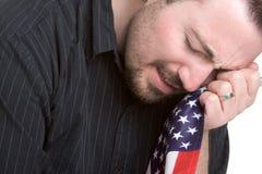 Homem patriótico triste Fotos de Stock Royalty Free