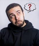 Homem pensativo - homem com nuvem inchado Foto de Stock Royalty Free