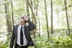 Homem perdido Fotografia de Stock Royalty Free
