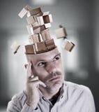 Homem perdido no pensamento fotografia de stock royalty free