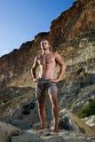 Homem perfeito do corpo com torso despido Imagens de Stock