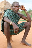 Homem perto de Turmi, Etiópia de Hamer Fotografia de Stock Royalty Free