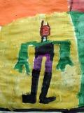 Homem pintado crianças imagens de stock