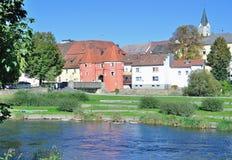 Homem poderoso, rio de REGEN, floresta bávara, Alemanha Imagens de Stock Royalty Free