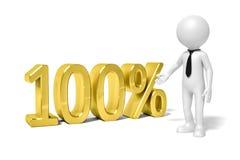 Homem 100 por cento Fotos de Stock
