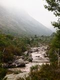 Valley of the Homem river, Peneda-Gerês national park in northern Portugal. The Homem is a Portuguese river, a tributary of the right bank of the Cávado, with Royalty Free Stock Image