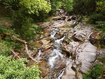 Valley of the Homem river, Peneda-Gerês national park in northern Portugal. The Homem is a Portuguese river, a tributary of the right bank of the Cávado, with Royalty Free Stock Photos