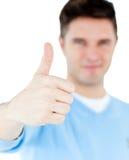 Homem positivo com polegar acima Fotografia de Stock Royalty Free