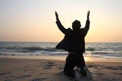 Homem Praying Fotografia de Stock