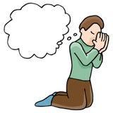 Homem Praying Imagem de Stock