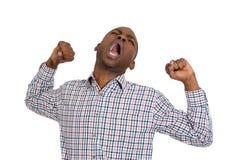 Homem preguiçoso de bocejo Fotos de Stock