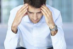 Homem preocupado Fotografia de Stock