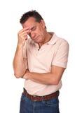 Homem preocupado deprimido ansioso fotografia de stock royalty free