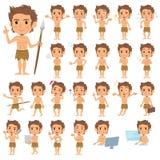 Homem primitivo ilustração royalty free