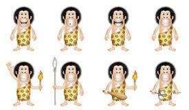 Homem primitivo dos desenhos animados Fotos de Stock Royalty Free