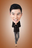 Homem principal grande asiático engraçado Fotografia de Stock Royalty Free