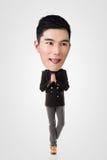 Homem principal grande asiático engraçado Imagens de Stock