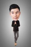 Homem principal grande asiático engraçado Fotos de Stock Royalty Free