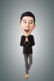 Homem principal grande asiático engraçado Fotos de Stock