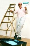 Homem pronto para pintar Fotografia de Stock Royalty Free