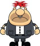 Homem punk dos desenhos animados mal-humorado Foto de Stock