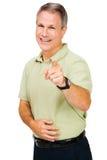 Homem que aponta e que sorri Fotografia de Stock Royalty Free