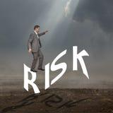 Homem que arrisca o Fotografia de Stock