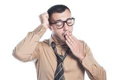 Homem que boceja Foto de Stock