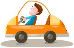 Homem que conduz um carro ilustração royalty free
