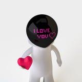 Homem que dá o coração vermelho Foto de Stock