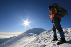 Homem que enfrenta o sol Foto de Stock Royalty Free