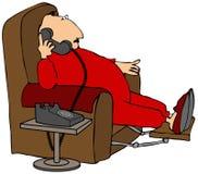 Homem que fala no telefone ilustração do vetor
