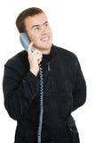 Homem que fala no telefone. fotografia de stock royalty free