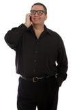 Homem que fala no telefone Fotografia de Stock