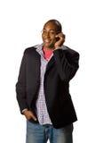 Homem que fala no telefone Fotografia de Stock Royalty Free