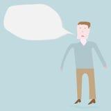 Homem que fala para fora Foto de Stock Royalty Free