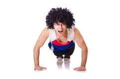 Homem que faz exercícios Imagens de Stock Royalty Free