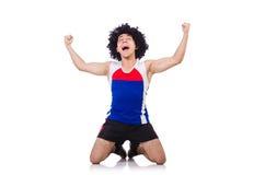 Homem que faz exercícios Foto de Stock