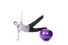 Homem que faz a ginástica aeróbica Imagens de Stock Royalty Free