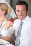 Homem que faz um brinde Imagens de Stock Royalty Free