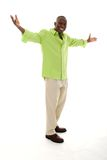 Homem que gesticula com mãos distante Foto de Stock Royalty Free